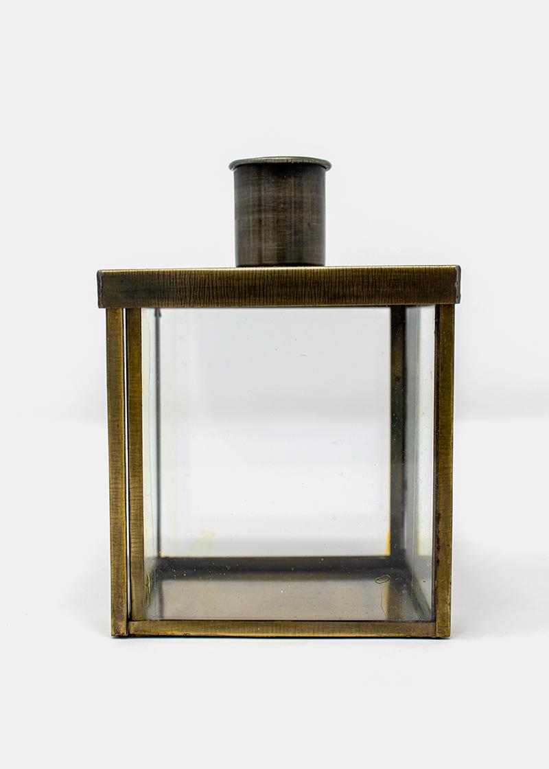 Kerzenhalter Würfel mit Goldrand_3