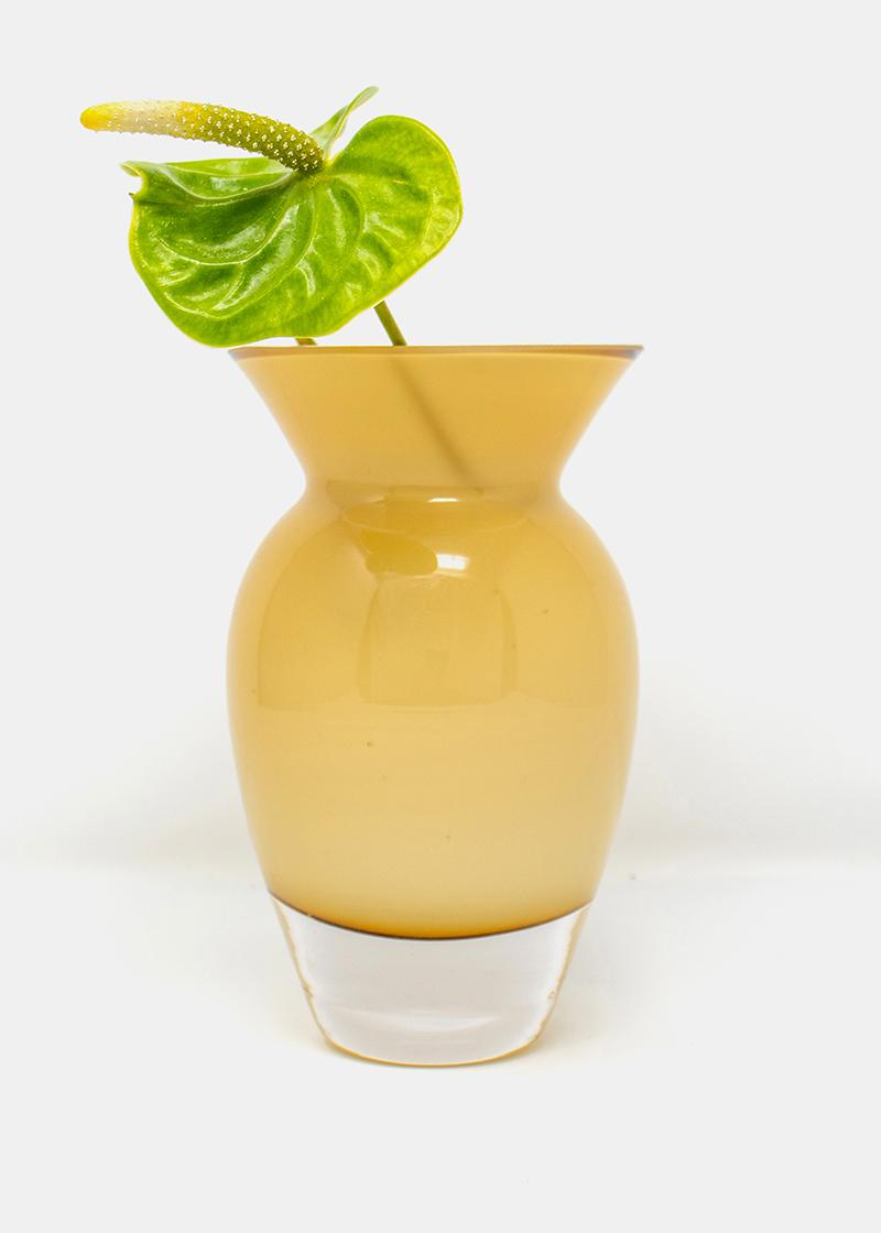 Kleine Glasvase Ocker_1